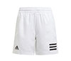 adidas Boys Club 3 Stripe Short (White)