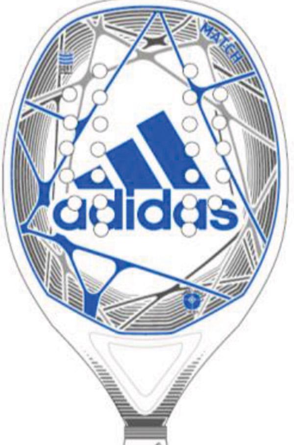 factory price e683e 32f95 Adidas Match (Blue) Beach Tennis Paddle