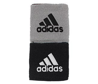 adidas Interval Reversible Wristband-Small (Black/Grey)