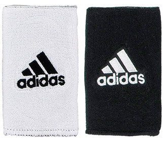 adidas Interval Reversible Wristband-Large (White/Black)