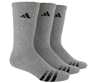 adidas Cushioned Color Crew 3-Pack (M) O/S