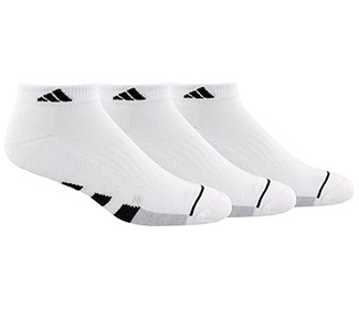 adidas Men's Cushioned Low Cut (3x) (White)