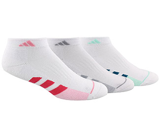 adidas Women's Cushioned II 3-Pack Low Cut (W