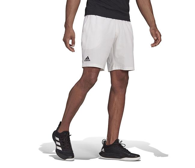 "adidas Club Stretch Woven Short 7"" (M) (White)"