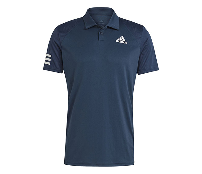 adidas Club 3 Stripe Polo (M) (Navy)