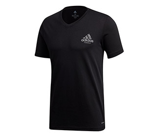 Adidas V-Neck Graphic Tee (M)