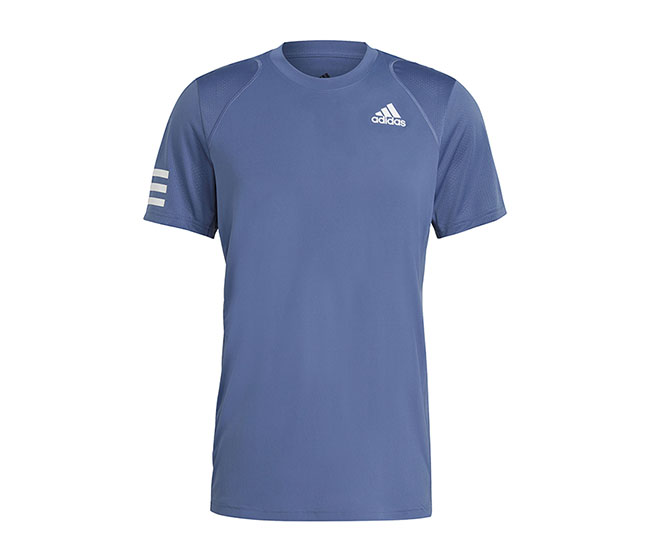 adidas Club 3 Stripe Tee (M) (Blue)