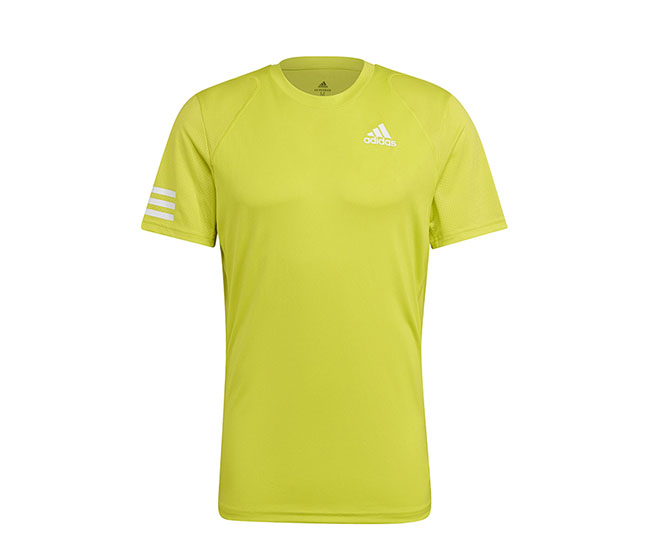 adidas Club 3 Stripe Tee (M) (Yellow)