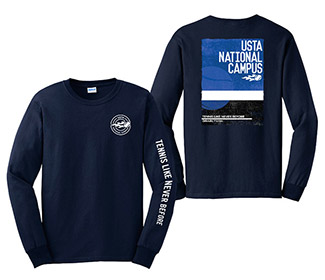 USTA Blue Court Long Sleeve Tee (M)