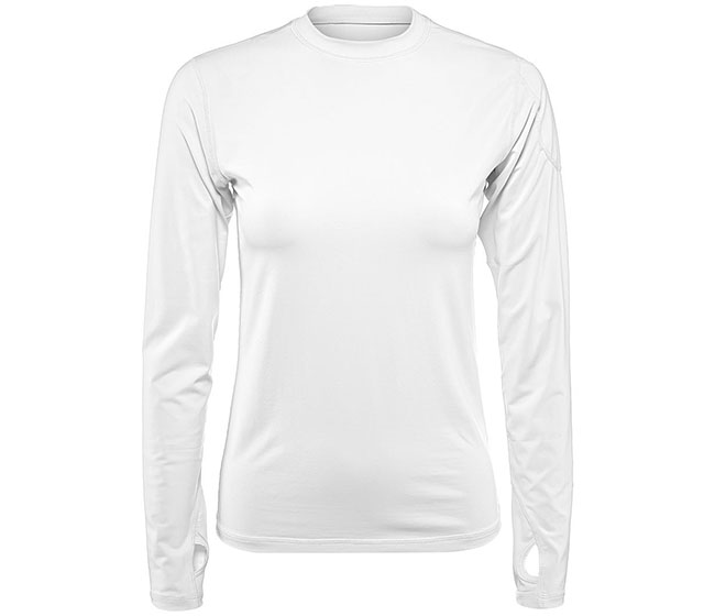 BloqUV 24/7 Long Sleeve Top (W) (White)