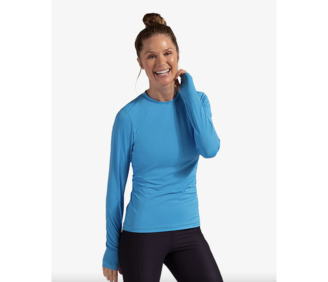 BloqUV 24/7 Long Sleeve Top (W) (Blue)