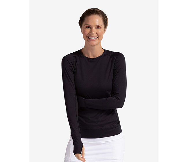 BloqUV Long Sleeve Pullover (W) (Black)