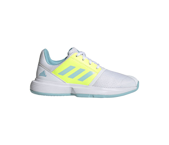 adidas Court Jam XJ (JR) (White/Yellow)