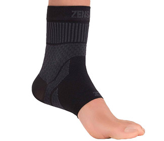 Zensah Compression Ankle Support (1x) Black