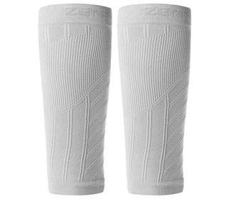 Zensah Calf/Shin Splint Compression Sleeves (White)